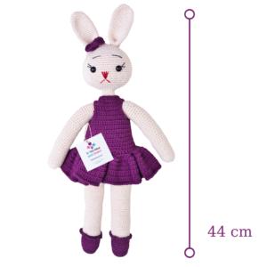 Amigurumi Örgü - Mor Elbiseli Tavşan Uyku Arkadaşım